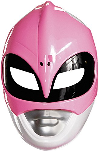 Mighty Morphin Power Rangers Mask (Disguise Sabans Mighty Morphin Power Rangers Pink Ranger Vacuform Mask Costume Accessory, Pink/Silver/Black, One Size Adult)