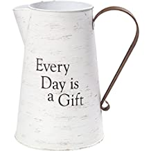 Precious Moments Every Day is A Gift Rustic Farmhouse Distressed Metal Decorative Container & Vase Home Décor 173430