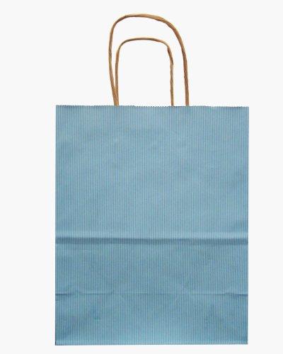 Mix 250ct Bag - Jillson Roberts Bulk Medium Recycled Kraft Bags Available in 13 Colors, Pastel Blue, 250-Count (BMK901)