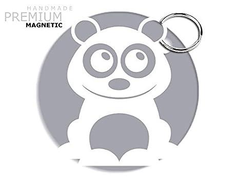 JCM llavero magnético de oso, plata: Amazon.es: Coche y moto