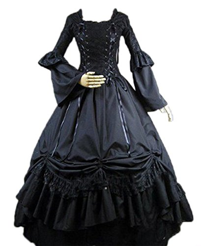Gothic Victorian Costume Nuoqi Women's Halloween Cosplay Dress