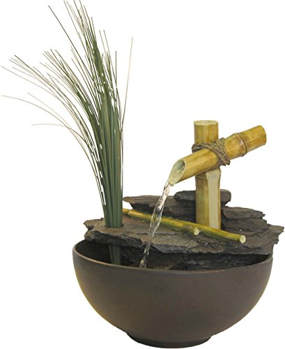Plutus Brands Calming Bamboo Eternity Tabletop Fountain ()