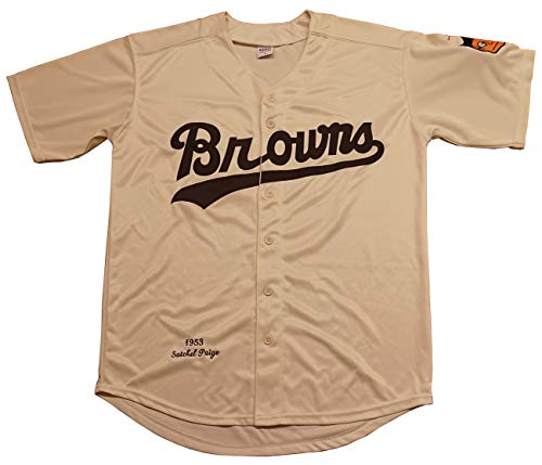 Kooy Satchel Paige #29 St. Louis Browns 1953 Throwback Vintage Baseball Jersey (Biege, 2XL)