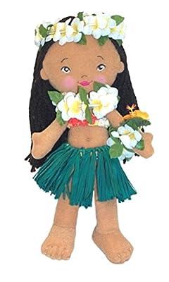 """Island Friends 8-1/2"""" Soft Hawaiian Hula Doll - Emma"""