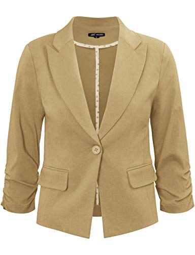 Michel Women's Blazers Long Sleeve Regular Fit Casual Work Office Solid Color Blazer Jacket