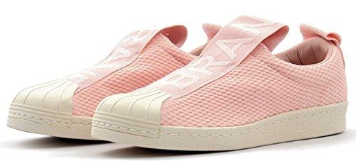 Adidas Originali Donna Superstar Slipon W Sneaker Rosa Ghiaccio / Rosa Ghiaccio / Legacy Bianco