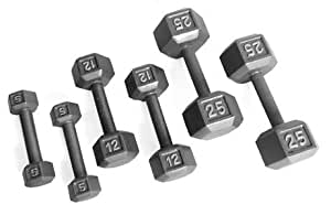 CAP Barbell 550 lb Hex Dumbbell Set (5-50 lbs in 5 lb increments)