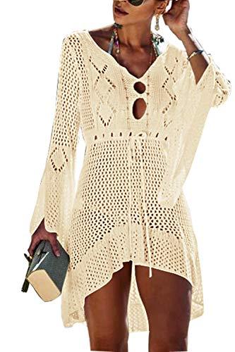 Walant Womens Crochet Beach Cover up Swimwear Hollow Out Bikini Cover up