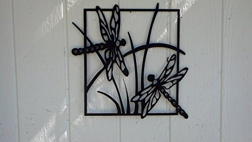 Dragonfly Scene Metal Wall Art