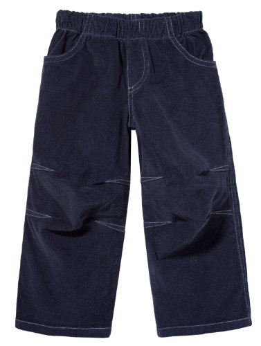 City Threads Boys' Corduroy Pull-Up Pants for School or Play; Comfortable for Active Children in for Sensitive Skin or Sensory Disorder - Dark Navy - 5