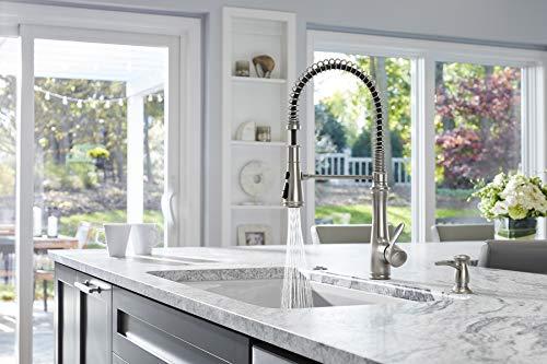 Farmhouse Kitchen KOHLER 29106-VS Bellera Semi-Professional 3 Function Pull Down Sprayer, Commercial Kitchen Sink Faucet, Vibrant… farmhouse sink faucets