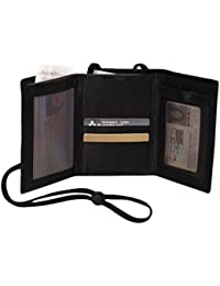 RFID Protection Airport Id And Ticket Wallet,Black,One Size