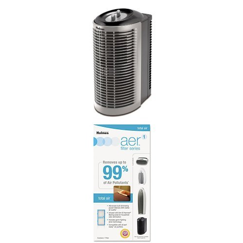 Holmes HEPA Tower Air Purifier with Extra AER1 Filter