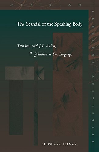 The Scandal of the Speaking Body: Don Juan with J. L. Austin, or Seduction in Two Languages (Meridian: Crossing Aestheti