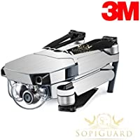 SopiGuard 3M Brushed Silver Precision Edge-to-Edge Coverage Vinyl Skin Controller Battery Wrap for DJI Mavic Pro