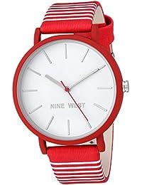 Womens Quartz Metal and Polyurethane Dress Watch, Color:Red