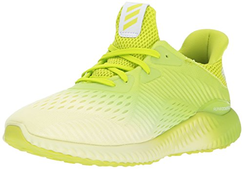 adidas Performance Girls' Alphabounce Em j Running Shoe, Ice Yellow/Semi Solar Yellow/White, 4 Medium US Big Kid by adidas