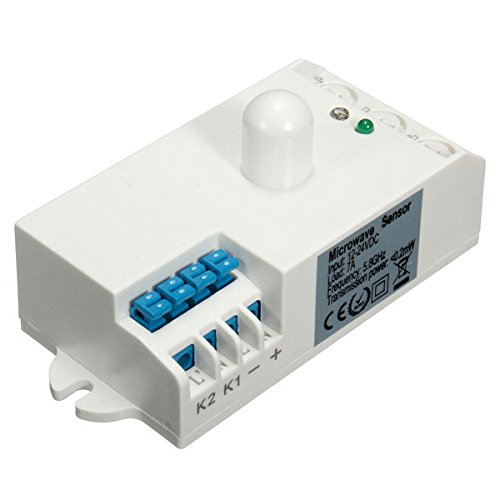 Global SK-807K-DC DC 12V-24V 5.8GHz Microwave Radar Sensor Light Switch Body Motion HF Detector