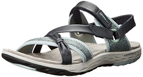 Sandals Lattice Vesper ebony Women's Brown Flat Merrell x1zqRx