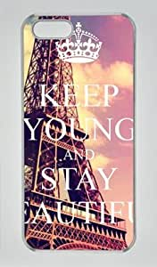 Keep Young and Stay Beautiful Iphone 5 5S Hard Shell with Transparent Edges Cover Case by Lilyshouse