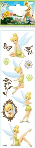 Disney Fairies Tinkerbell Dimensional Scrapbook Stickers