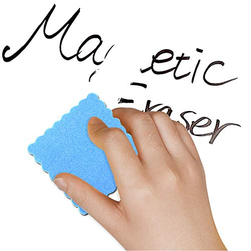 MOLYHUA 48 Pack Magnetic Whiteboard Dry Erase Eraser Chalkboard Cleansers for Classroom, Home and Office
