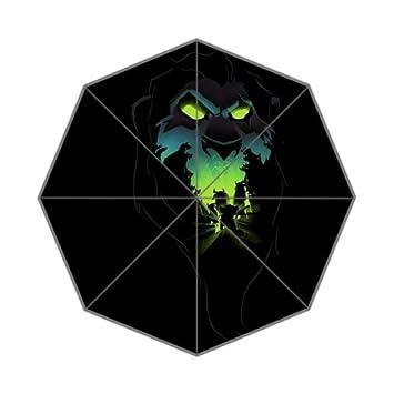 Trippy Lion Face Black Wallpaper Auto Foldable Umbrella Amazon Co