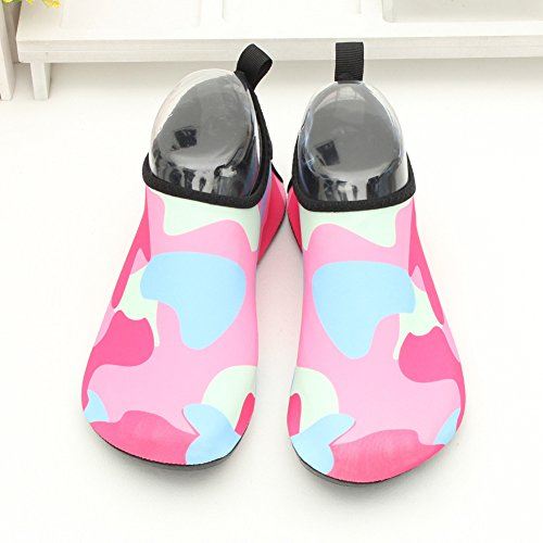 CIOR Men and Women Barefoot Skin Aqua Shoes Anti-Slip Multifunctional Water Shoes For Beach Pool Surf Yoga Exercise 3.rose Red g6Fb6Gv5m