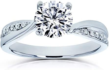 Kobelli Moissanite (DEF) Diamond Engagement Ring 1 CTW in 14k White Gold