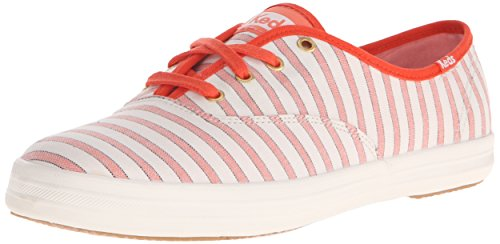 Keds Champion Stripe - Keds Women's Champion Cabana Stripe, Coral, 7 M US
