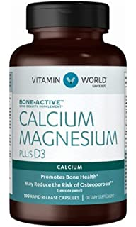 Vitamin World Calcium Magnesium Plus Vitamin D3 100 rapid release capsules