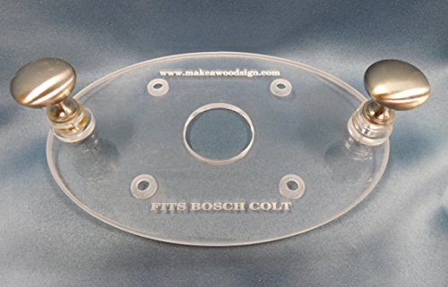 Acrylic Router Base Plate for Bosch Colt Palm Router