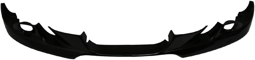 2005 2006 Painted Jet Black #668 PU Front Lip Finisher Under Chin Spoiler Add On other color available by IKON MOTORSPORTS Pre-painted Front Bumper Lip Compatible With 2004-2007 BMW E60 5-Series