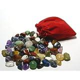 85 Edelsteine im schönen Stoffsäckchen für Hus, Bao und Kalaha mit Gratis-Anleitung