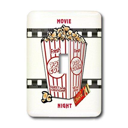 3dRose LLC lsp_109494_1 Movie Nigh with Choc Bar N Popcorn Single Toggle Switch