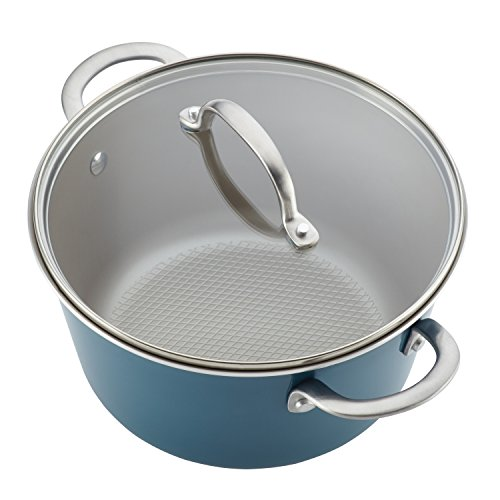 Ayesha Curry Home Collection Porcelain Enamel Nonstick Cookware Set, Twilight Teal, 9-Piece by Ayesha Curry (Image #2)
