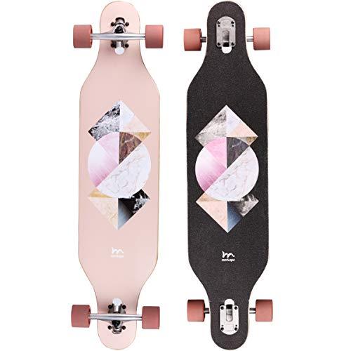 Merkapa 41 Inch Drop-Through Longboard Skateboard Cruiser (Geometric)