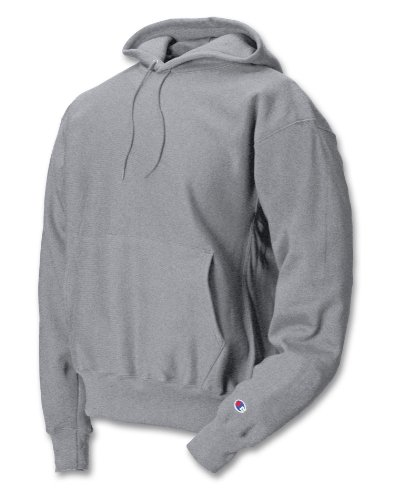 - Champion Men's Men' Reverse Weave Fleece Pullover Hoodie, Oxford Gray, Large