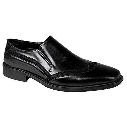 Bära Mens Formellt Slip-on Skor Svarta Män