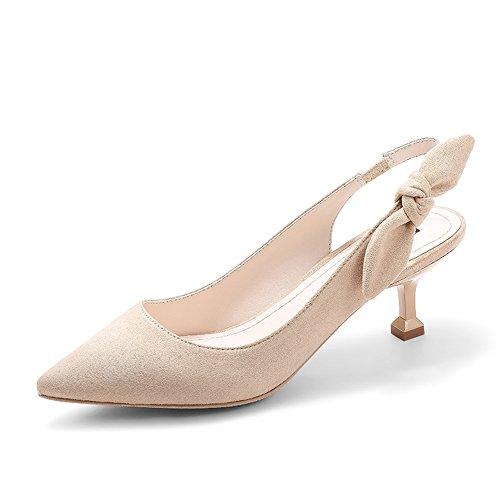 Tacones Sueltos Amazing Sandalias uk4 Eu37 5 Tamaño 5 Zapatos Verano B A Aguja cn37 Mujer Color Bombas De Primavera prtfqwxt0