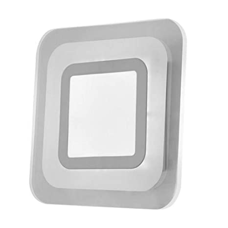 OYGROUP Acrílico LED Square Panel Lamp Modern Simple White 6500K Lámpara de techo para oficina, sala de estar, balcón