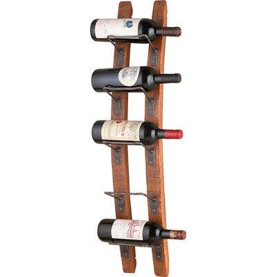 Blackburn 5 Bottle Wall Mounted Wine Rack, 34'' H x 8.75'' W x 7'' D (1)