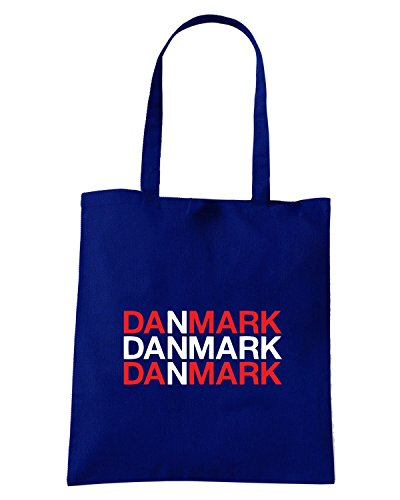 T-Shirtshock - Bolsa para la compra WC0317 DANIMARCA DANMARK Azul Marino