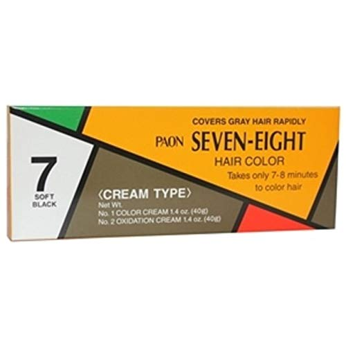 PAON SEVEN-EIGHT CREAM TYPE HAIR COLOR SOFT BLACK #7