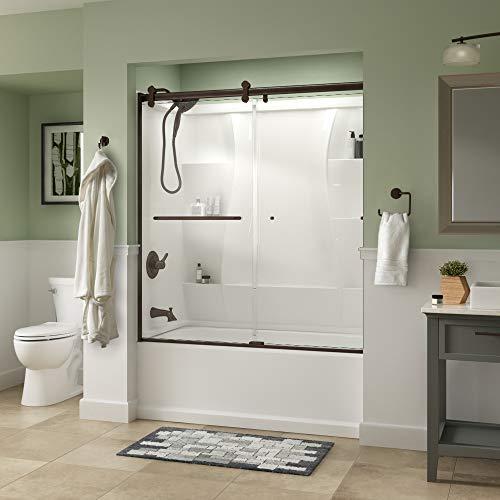 Delta Shower Doors SD3927442 Classic Semi-Frameless Contemporary Sliding Bathtub, 60