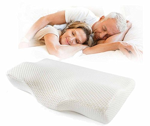 Meiz Soft Memory Foam Contoured Orthopedic Cervical Pillow