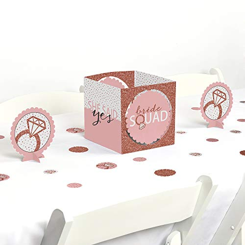 Big Dot of Happiness Bride Squad - Rose Gold Bridal Shower or Bachelorette Party Centerpiece and Table Decoration Kit]()