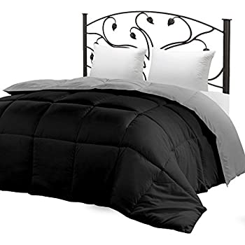 utopia bedding down alternative reversible comforter all season duvet insert microfiber box stitched 3d hollow