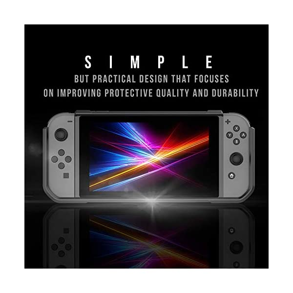 RevoGuard Slim Heavy Duty Switch Case [Stores 5 Games] Compact Multi Angle Holder Play Stand for Nintendo Switch 9