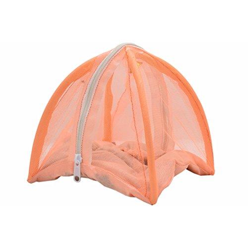 SANAYA Bed for Laddu Gopal with Mosquito Net and Pillow for Kanha, Thakur Ji Light Orange